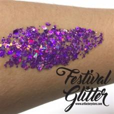 ACTIE  Festival Glitter - Fierce - paars 50ml (gratis silicone spatel bij 2 verpakkingen)