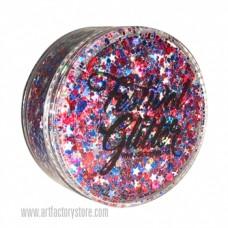 ACTIE  Festival Glitter Fireworks ROOD-WIT-BLAUW - Vuurwerk 50ml (gratis silicone spatel bij 2 verpakkingen)