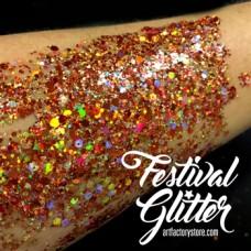 ACTIE  Festival Glitter Pumpkin Spice - Oranje 50ml (gratis silicone spatel bij 2 verpakkingen)