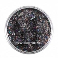 ACTIE  Festival Glitter - Raven 50ml (gratis silicone spatel bij 2 verpakkingen)