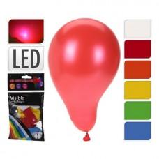 Ballonnen ass. kleur met LED-licht 3 st.