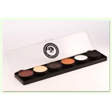 Cameleon Huidskleur palet - Mini Dermaniac (6 x 6 gr)