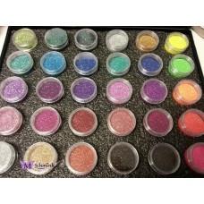 Case met 30 potjes cosmetische glitter a 5 gr.