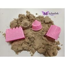 Super sand met 3 vormpjes in een emmertje - 250 gram