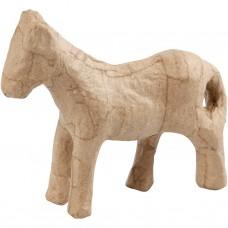 Paard / eenhoorn van papier maché geschikt voor Foam Clay