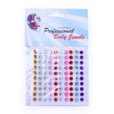 Body Strass steentjes rond mini 100 stuks a 6 mm.