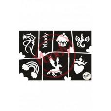 Y-body sjablonen set Magical 6 stuks