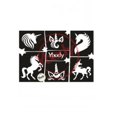 Y-body sjablonen set Unicorn 6 stuks - eenhoorn