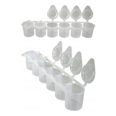 Y-body 6 pack plastic containers (leeg)