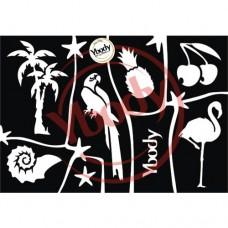 Y-body sjablonen set Tropical 7 stuks