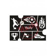 Y-body sjablonen set Voetbal 6 stuks