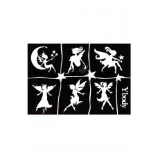 Y-body sjablonen set Fairies 6 stuks