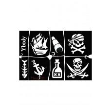 Y-body sjablonen set Piraat 7 stuks