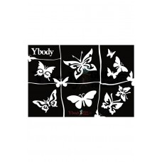 Y-body sjablonen set Vlinder 6 stuks