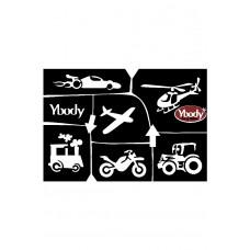Y-body sjablonen set Transport 6 stuks