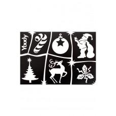 Y-body sjablonen set Kerst 6 stuks