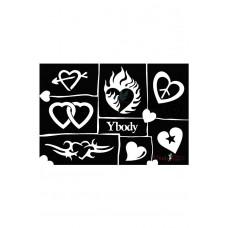 Y-body sjablonen set Hearts 7 stuks