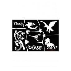 Y-body sjablonen set Wild animals 6 stuks