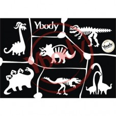 Y-body sjablonen set Dino's 6 stuks
