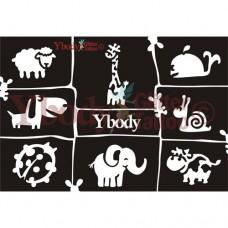 Y-body sjablonen set Dieren (cute) 8 stuks