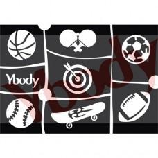 Y-body sjablonen set Sport 7 stuks