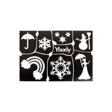 Y-body sjablonen set Winter 7 stuks