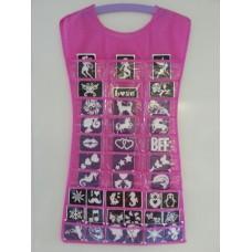 Sieraden jurk roze (excl. sjablonen)