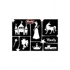Y-body sjablonen set Prinses 6 stuks
