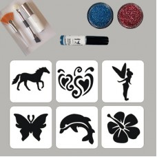 Glittertattoo  set mini (meisjes)