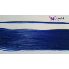 10 synthetische hair feathers effen - BLAUW + ring