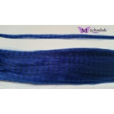 10 synthetische hair feathers grizzly - BLAUW  + ring