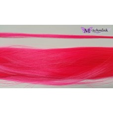 10 synthetische hair feathers effen - NEON ROZE + ring