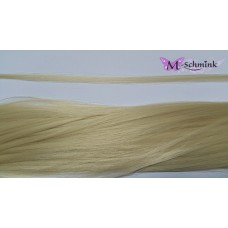 10 synthetische hair feathers effen - BLOND + ring