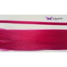 10 synthetische hair feathers effen - FUCHSIA + ring