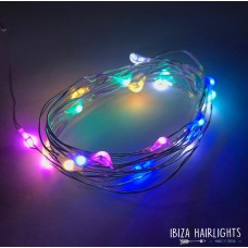 Ibiza hair lights MULTI COLOR PASTEL +  body strass  OP=OP