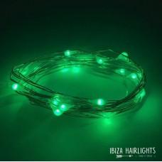 Ibiza hair lights GROEN + body strass  OP=OP