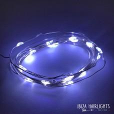 Ibiza hair lights HELDER WIT + body strass  OP=OP