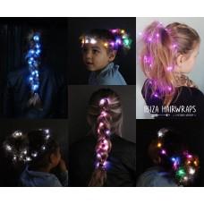Ibiza hair lights PAARS + body strass  OP=OP