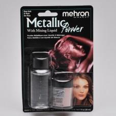 Mehron  Metallic Powder Rose Gold + Liquid