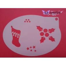 Medium stencil - Kerst hulst