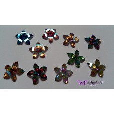 Body jewels BLING BLING FLOWER 10 st. Gekleurd