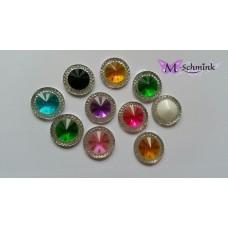 Body jewels ROND 10 st. kleur assorti