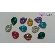 Body jewels  DRUPPEL (small) 10 st. kleur assorti