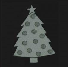 Schmink stempel Kerstboom