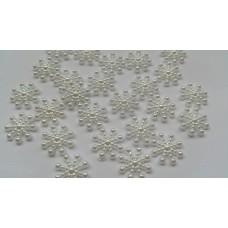 Body jewels  IJSKRISTAL parel WIT 25 st.